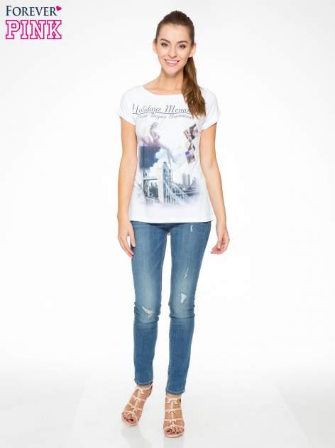 Biały t-shirt z nadrukiem Saint Tropez                                  zdj.                                  5
