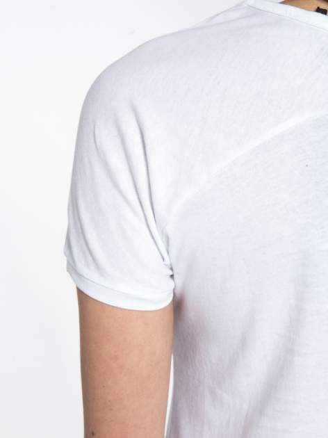Biały t-shirt z nadrukiem kwiatowym PRETTY GIRL                                  zdj.                                  8
