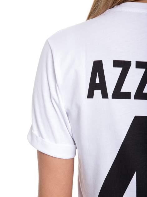 Biały t-shirt z nadrukiem numerycznym AZZEDINE 40 z tyłu                                  zdj.                                  10