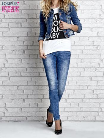 Biały t-shirt z napisem I AM CHOCOHOLIC BABY                                  zdj.                                  4