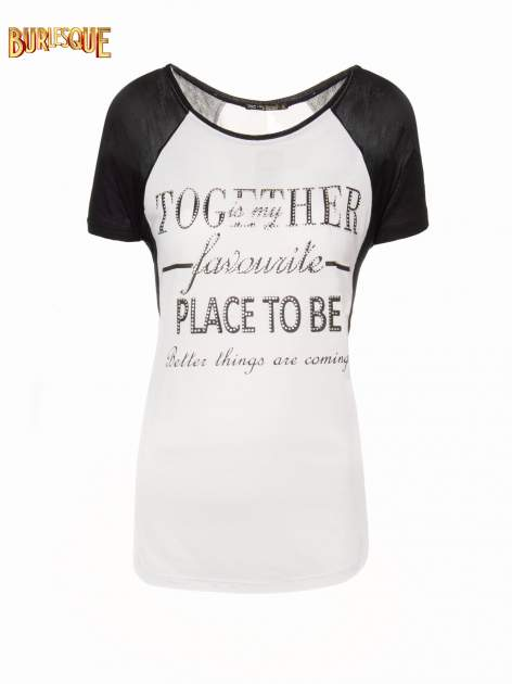Biały t-shirt z napisem TOGETHER IS MY FAVOURITE PLACE TO BE