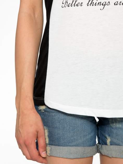 Biały t-shirt z napisem TOGETHER IS MY FAVOURITE PLACE TO BE                                  zdj.                                  6
