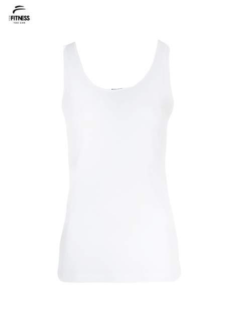 Biały top sportowy na grubych ramiączkach                                  zdj.                                  2