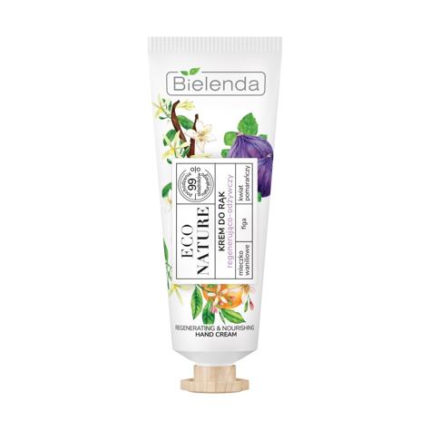 """Bielenda Eco Nature Krem do rąk regenerująco-odżywczy - Mleczko Waniliowe & Figa & Kwiat Pomarańczy 50ml"""""""