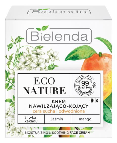 """Bielenda Eco Nature Krem nawilżająco-kojący na dzień i noc - Śliwka Kakadu & Jaśmin & Mango 50ml"""""""