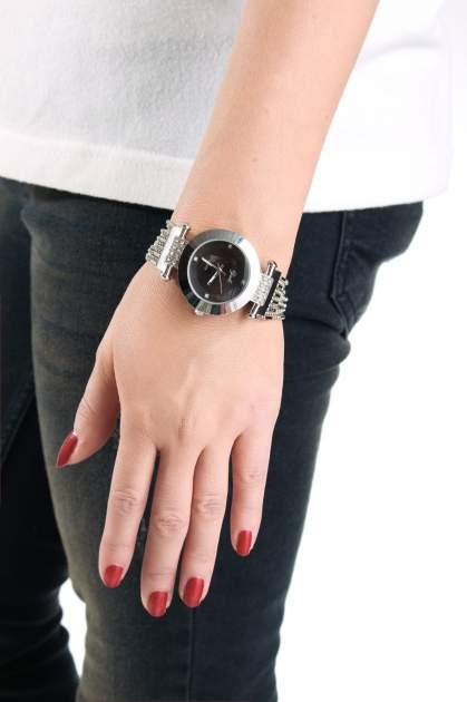 Biżuteryjny srebrny zegarek damski z czarną tarczą                                  zdj.                                  3