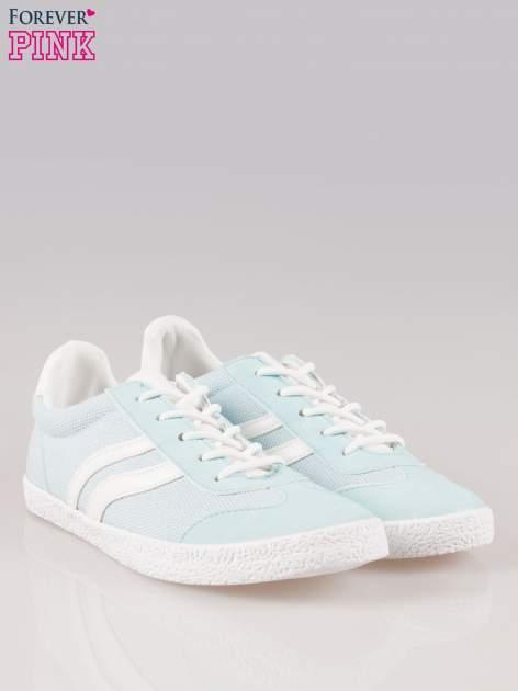 Błękitne buty sportowe faux leather Cupcake w stylu casual                                  zdj.                                  2