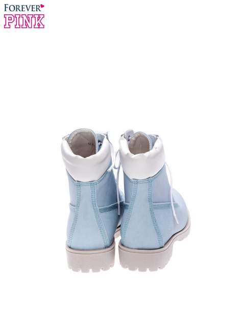 Błękitne buty trekkingowe damskie typu trapery                                  zdj.                                  3