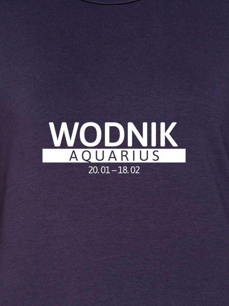 Damska bluza ze znakiem zodiaku WODNIK grafitowa                                  zdj.                                  2