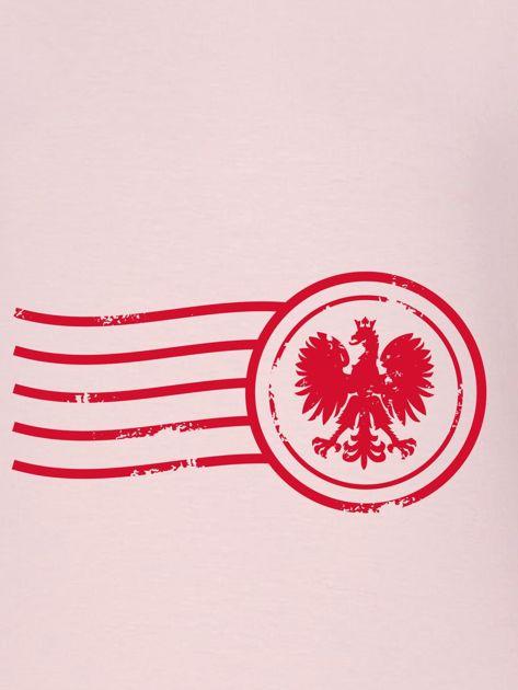 Bluza damska patriotyczna z nadrukiem Orła Białego różowa                                  zdj.                                  2