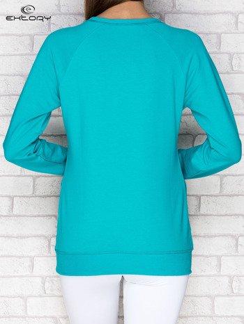 Bluza damska z napisem EXT zielona
