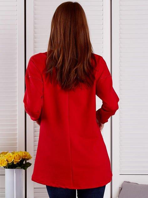 Bluza damska z serduszkami czerwona                                  zdj.                                  2