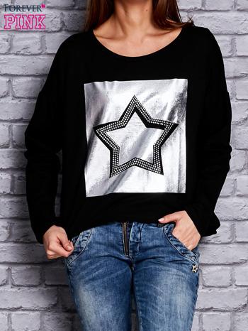 Bluza z motywem gwiazdy czarna                                  zdj.                                  1