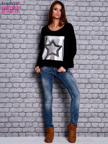 Bluza z motywem gwiazdy czarna                                  zdj.                                  4