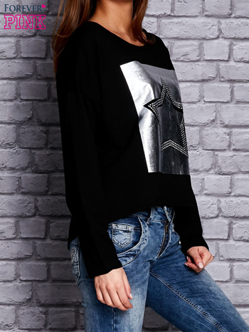 Bluza z motywem gwiazdy czarna                                  zdj.                                  3