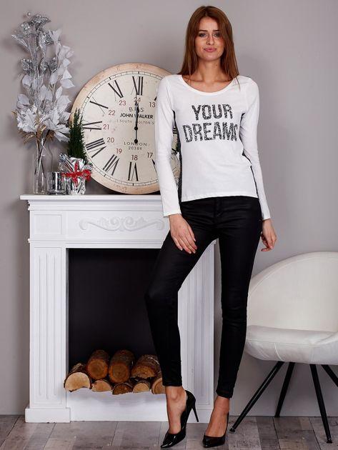 Bluzka z cekinami YOUR DREAMS ecru                              zdj.                              4