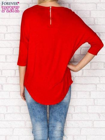 Bluzka z suwakiem czerwona