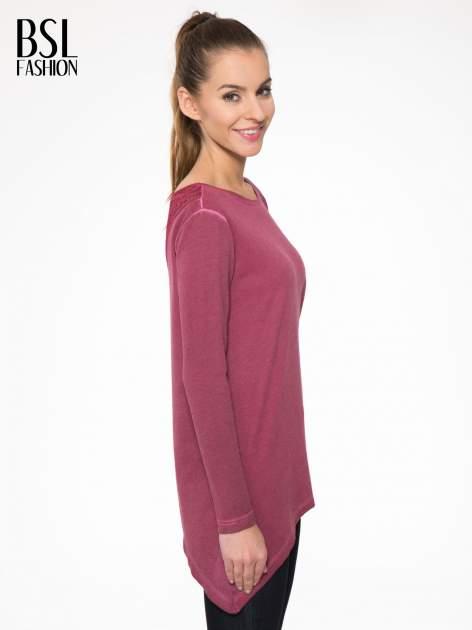 Bordowa bluza z koronkową wstawką na plecach                                  zdj.                                  3
