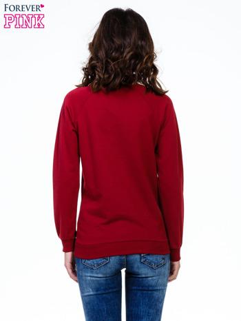 Bordowa bluza z napisem I AM FREAKING COLD                                  zdj.                                  2