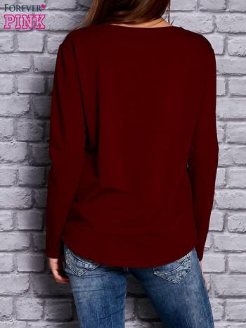 Bordowa bluza z sercem                                  zdj.                                  4