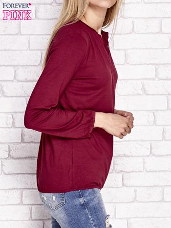Bordowa bluzka ze ściągaczem na dole                                  zdj.                                  3