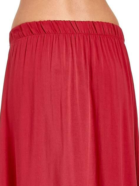 Bordowa spódnica maxi z rozporkiem                                  zdj.                                  7