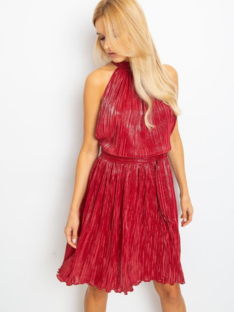 Bordowa sukienka Hazel