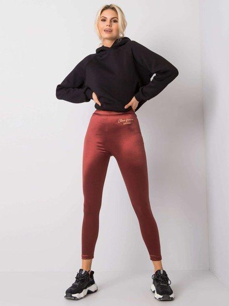 Bordowe legginsy Catrina RUE PARIS
