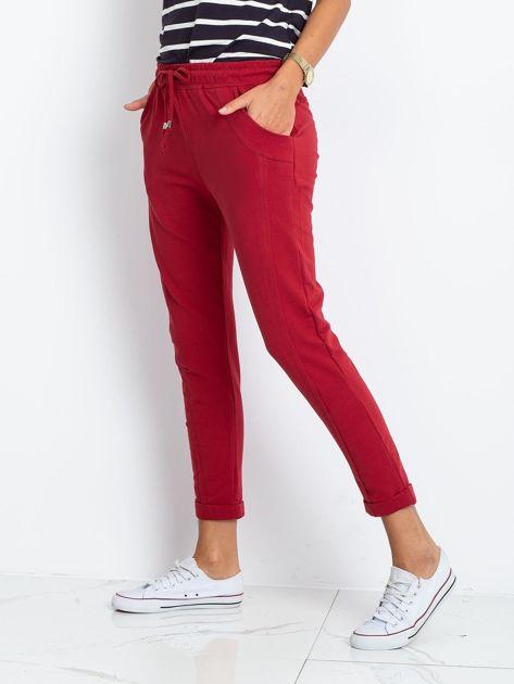 Bordowe spodnie Approachable                              zdj.                              3
