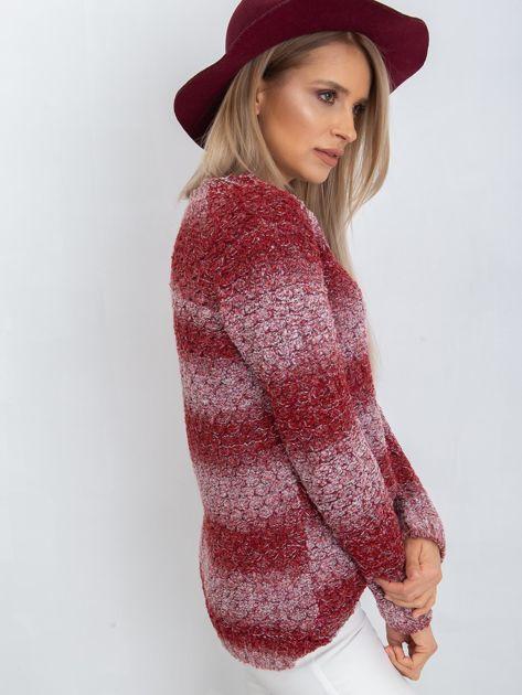 Bordowy sweter Loop                              zdj.                              7