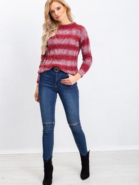 Bordowy sweter Shantelle                              zdj.                              4