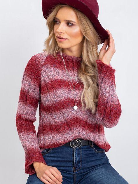 Bordowy sweter West                              zdj.                              1