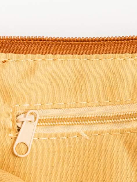Brązowa kopertówka z dżetami motyw apple                                  zdj.                                  6