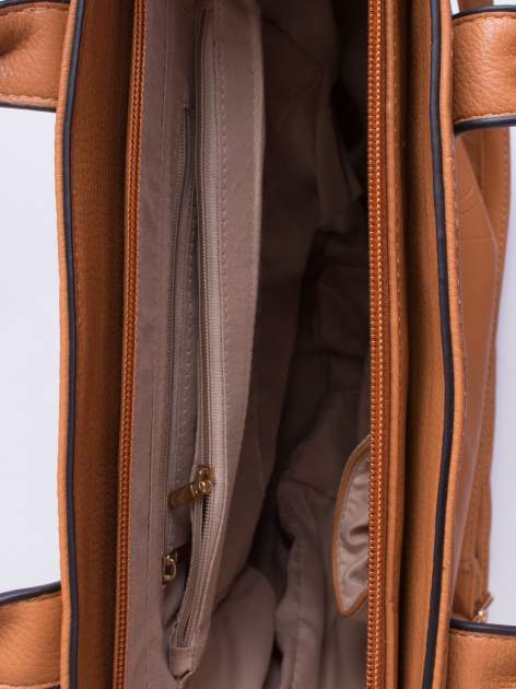 Brązowa torba damska do ręki                                  zdj.                                  4