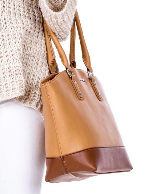 Brązowa torba damska two tone                              zdj.                              2