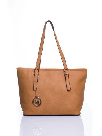 Brązowa torba shopper bag z regulowanymi rączkami                                  zdj.                                  1