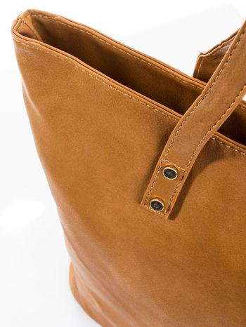Brązowa torba ze złotym detalem                                  zdj.                                  6