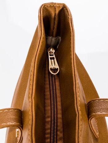 Brązowa torba ze złotym detalem                                  zdj.                                  7
