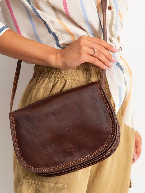 Brązowa torebka ze skóry naturalnej                              zdj.                              1
