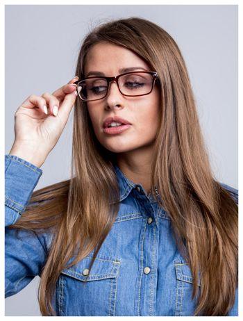 Brązowe okulary korekcyjne +2.0 D ,model WAYFARER do czytania z systemem FLEX na zausznikach +GRATIS PLASTIKOWE ETUI I ŚCIERECZKA Z MIKROFIBRY                                  zdj.                                  1