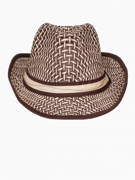 Brązowy kapelusz słomiany z dużym rondem i ciemną wstążką                                  zdj.                                  6