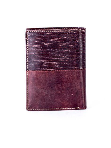 Brązowy modułowy skórzany portfel                               zdj.                              2