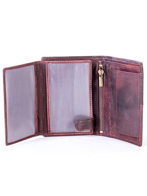 Brązowy modułowy skórzany portfel                               zdj.                              5
