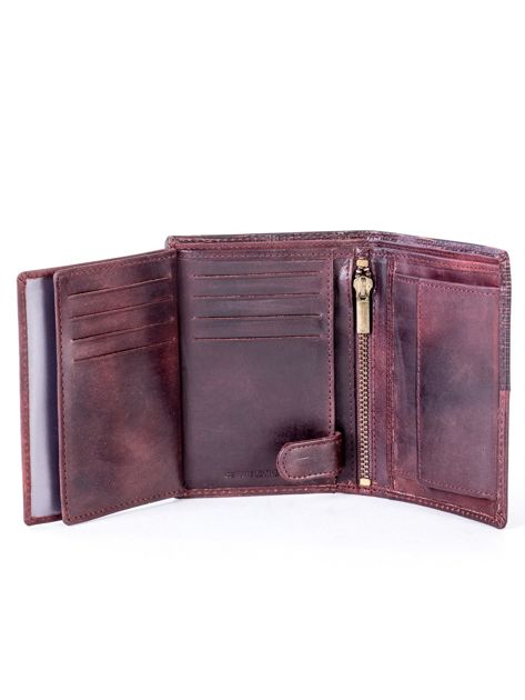 Brązowy modułowy skórzany portfel                               zdj.                              6