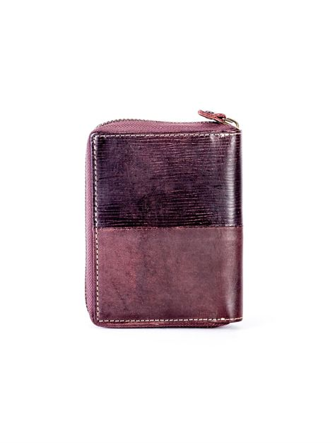 Brązowy portfel dla mężczyzny na suwak                              zdj.                              2