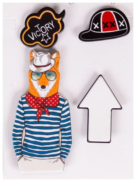 Broszka przypinka na kurtkę,plecak,czapkę 4 szt. (NA PINSY)