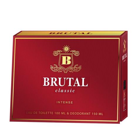 """Brutal Classic Intense Zestaw prezentowy (Woda toaletowa 100ml + Dezodorant spray 150ml)"""""""