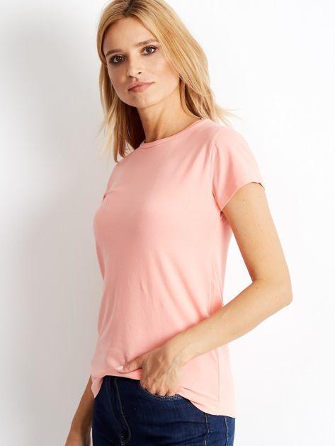 Brzoskwiniowy t-shirt Peachy                              zdj.                              3