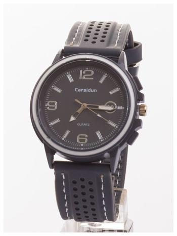CARSIDUN Modny i wygodny męski zegarek z silikonowym paskiem