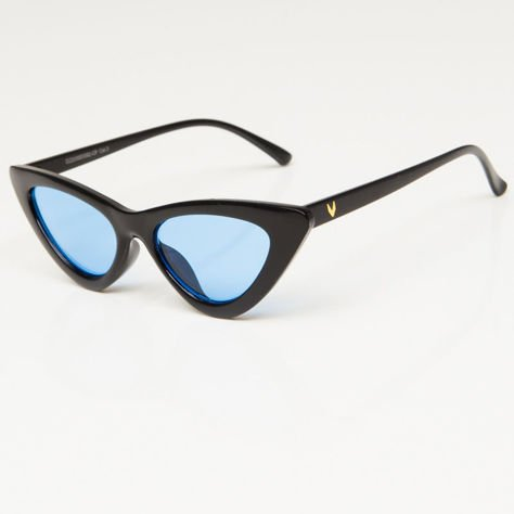 CAT EYE Czarne damskie okulary przeciwsłoneczne KOCIE OCZY                              zdj.                              3
